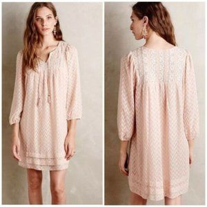 One September Blush Anwen Tassel Peasant Dress